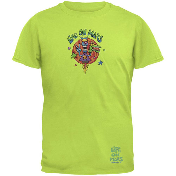 Joey Mars - Life On Mars Rocket Guy Lime Green Adult T-Shirt