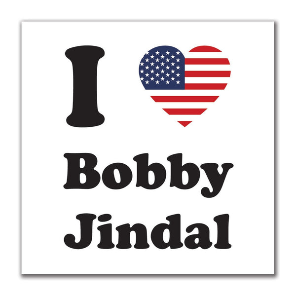 Election 2016 I Heart Bobby Jindal 4x4 Square Sticker