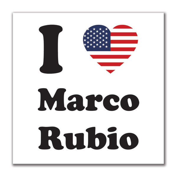 Election 2016 I Heart Marco Rubio 4x4 Square Sticker