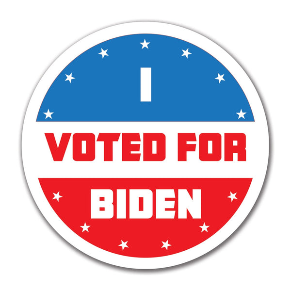 Election 2016 I Voted For Biden 4x4 Round Sticker