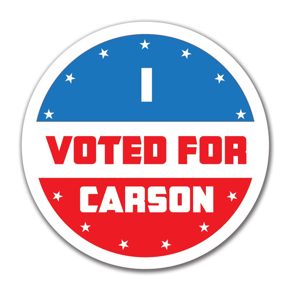 Election 2016 I Voted For Carson 4x4 Round Sticker