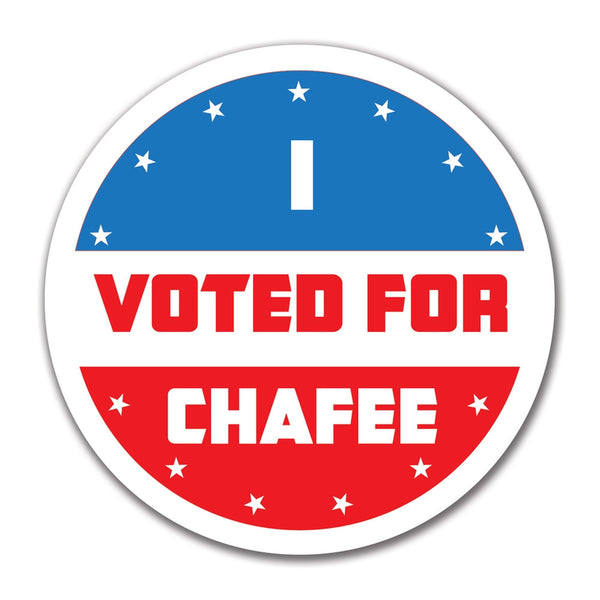 Election 2016 I Voted For Chafee 4x4 Round Sticker