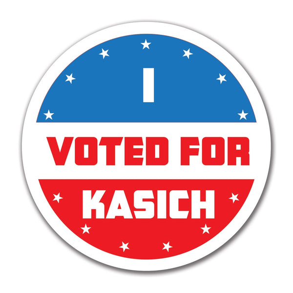 Election 2016 I Voted For Kasich 4x4 Round Sticker