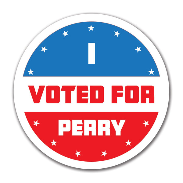 Election 2016 I Voted For Perry 4x4 Round Sticker