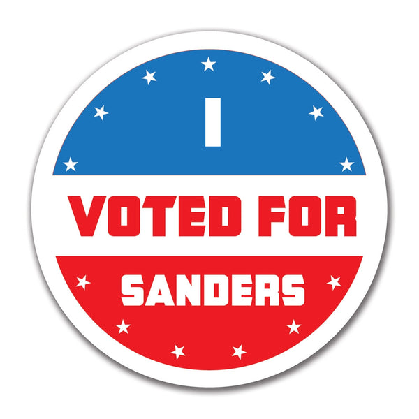 Election 2016 I Voted For Sanders 4x4 Round Sticker