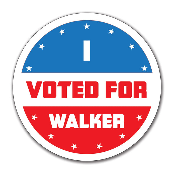 Election 2016 I Voted For Walker 4x4 Round Sticker