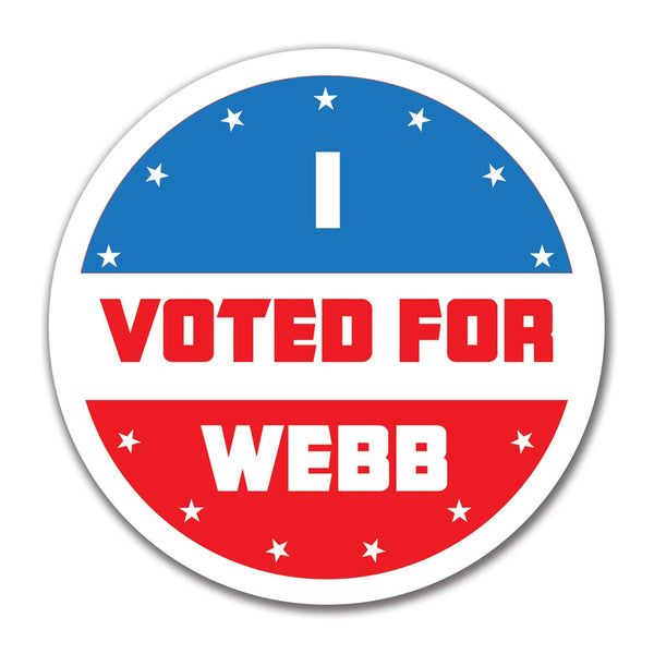 Election 2016 I Voted For Webb 4x4 Round Sticker