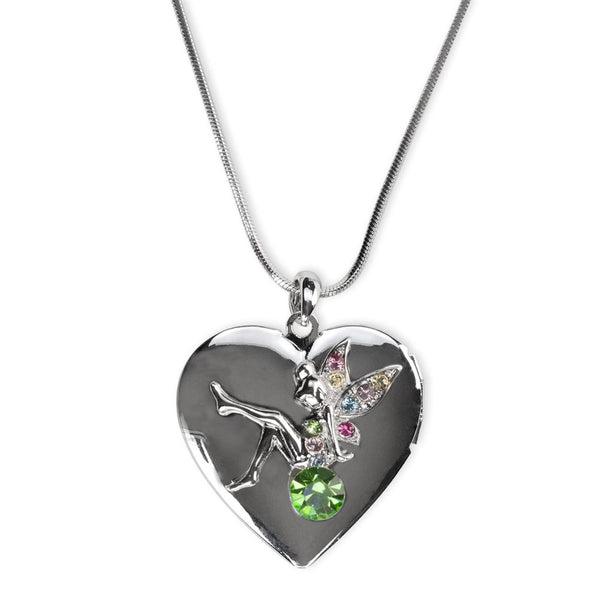 Green Gemmed Fairy Locket Necklace