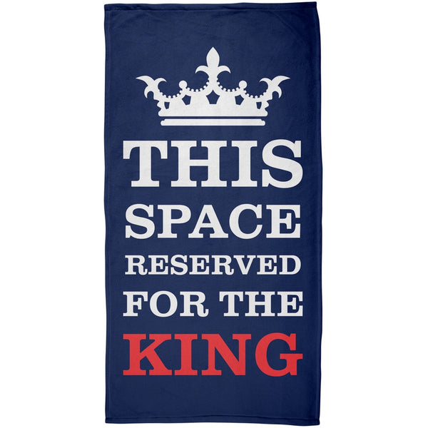 Reserved For The King All Over Plush Beach Towel