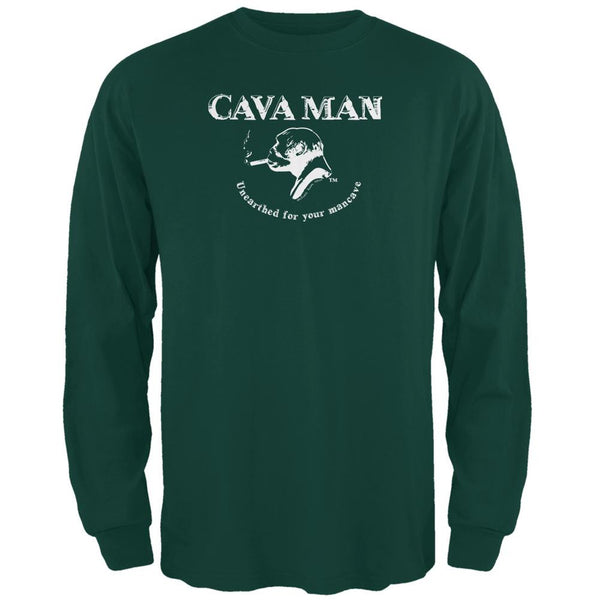 Cava Man Forest Green Adult Long Sleeve T-Shirt