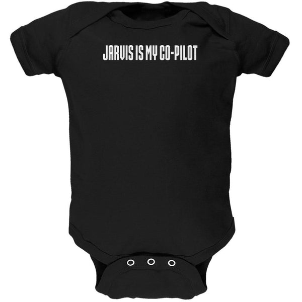 Jarvis is my Copilot Funny Black Soft Baby One Piece
