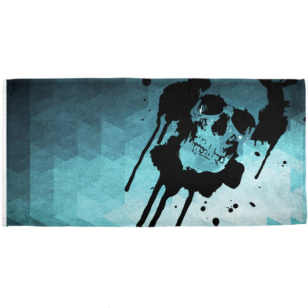 Dripping Skull All Over Beach Towel