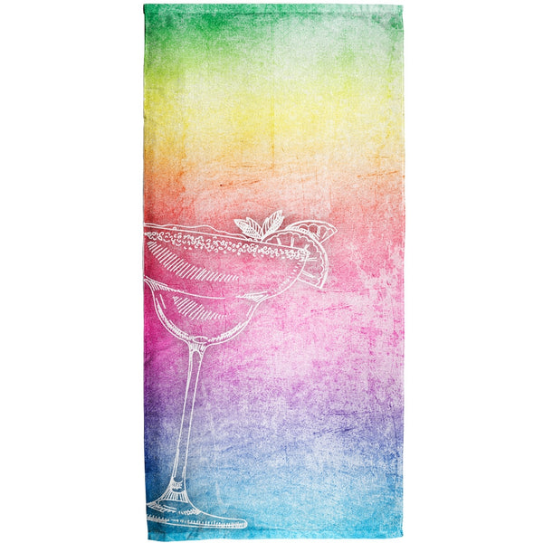Margarita Rainbow All Over Beach Towel