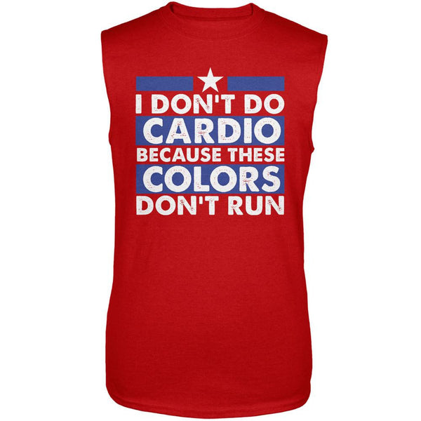 4th Of July I Don't Do Cardio Red Adult Sleeveless Shirt
