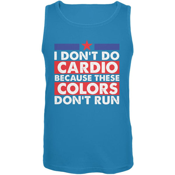4th Of July I Don't Do Cardio Turquoise Adult Tank Top