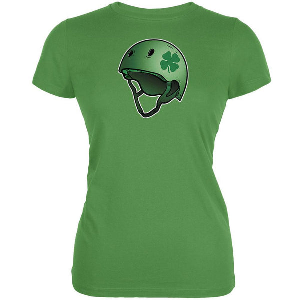 Irish Clover Roller Derby Helmet Leaf Juniors Soft T-Shirt