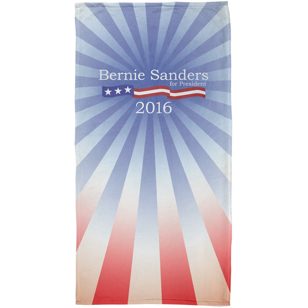 Bernie Sanders 2016 President All Over Plush Beach Towel