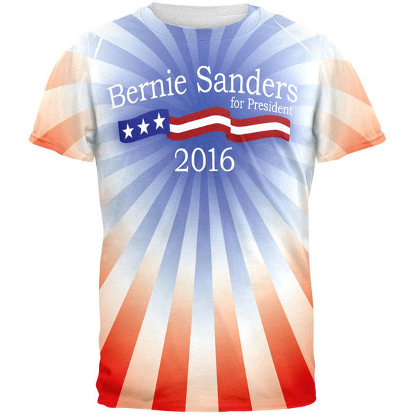 Bernie Sanders 2016 President All Over Adult T-Shirt