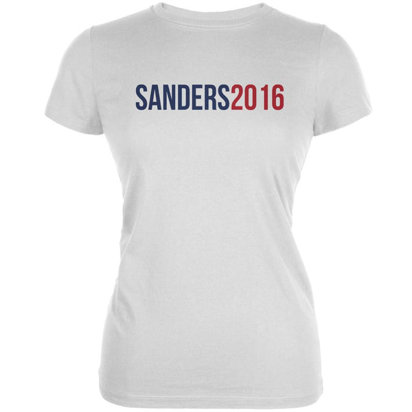 Election 2016 Sanders 2016 White Juniors Soft T-Shirt