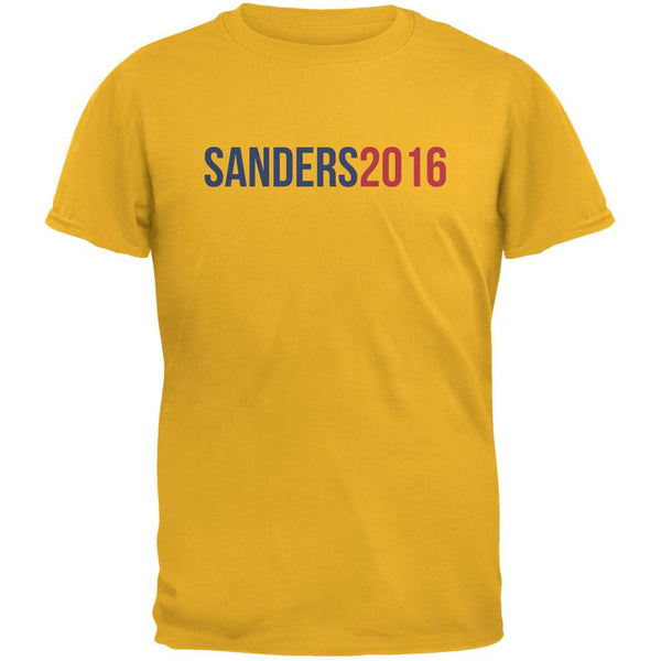 Election 2016 Sanders 2016 Gold Adult T-Shirt