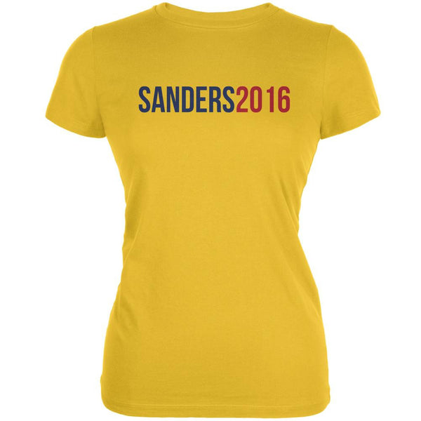 Election 2016 Sanders 2016 Bright Yellow Juniors Soft T-Shirt