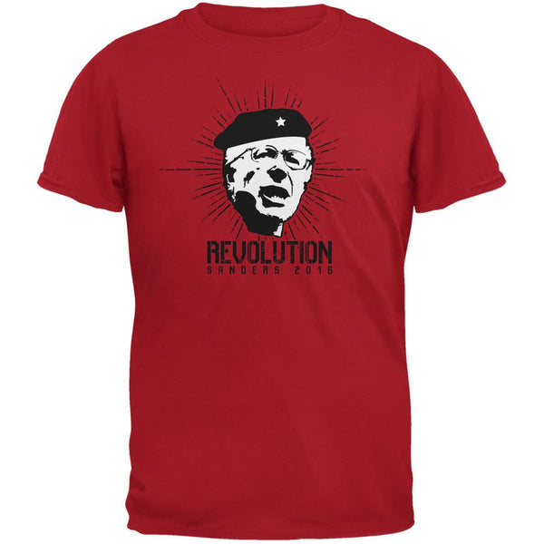 Election 2016 Bernie Sanders Che Guevara Parody Red Adult T-Shirt