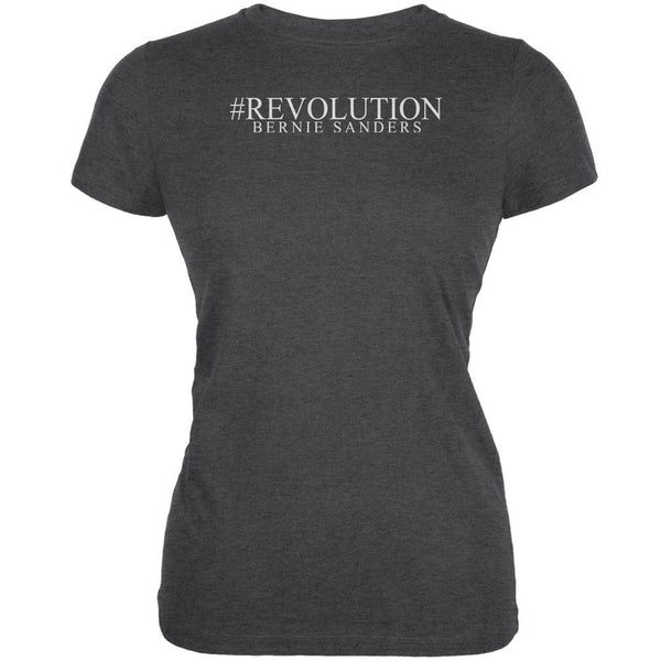 #Revolution Bernie Sanders President 2016 Dark Heather Juniors Soft T-Shirt