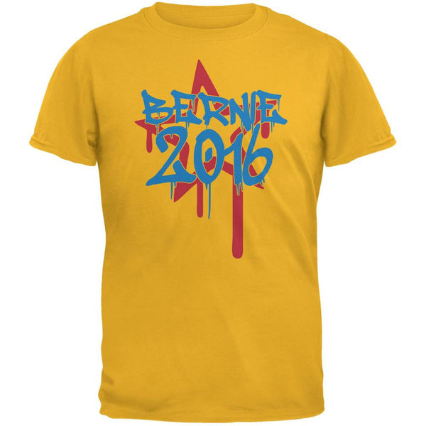 Election 2016 Bernie 2016 Graffiti Gold Adult T-Shirt