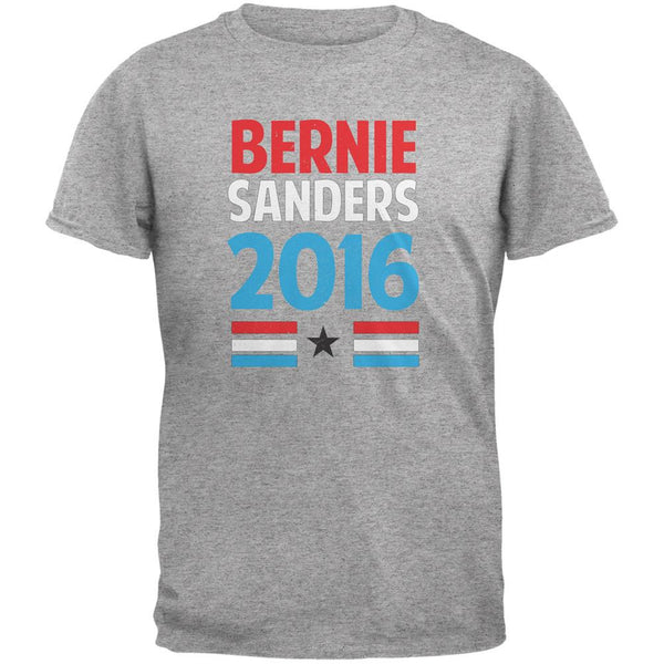 Election 2016 Bernie Vintage Text Heather Grey Adult T-Shirt