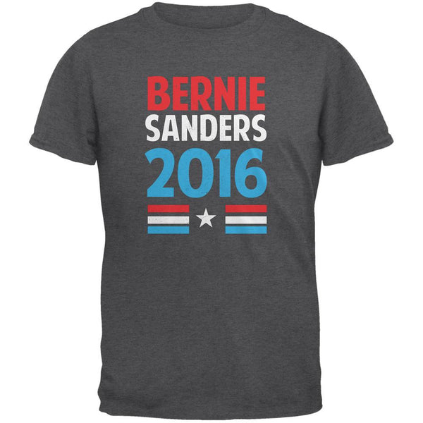 Election 2016 Bernie Vintage Text Dark Heather Adult T-Shirt