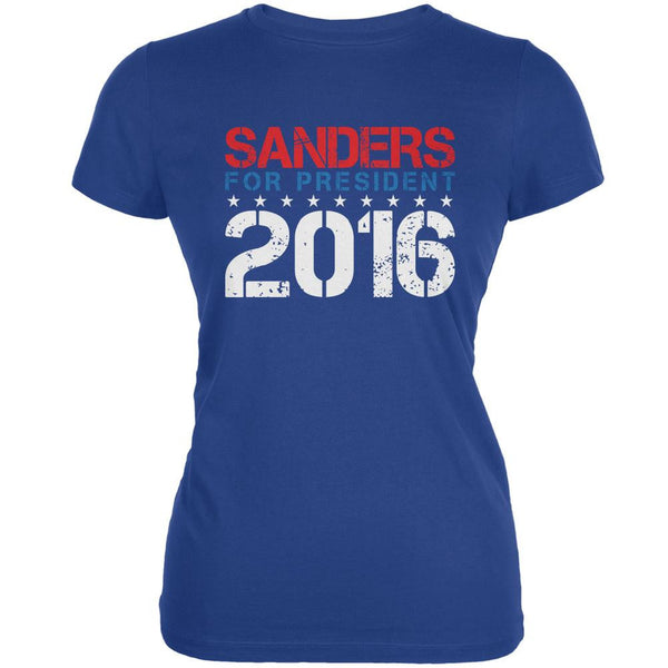 Election 2016 Bernie For President Stencil Royal Juniors Soft T-Shirt