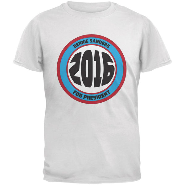 Election 2016 Bernie Circle Logo White Adult T-Shirt