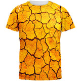 Desert Dry Cracked Playa All Over Adult T-Shirt