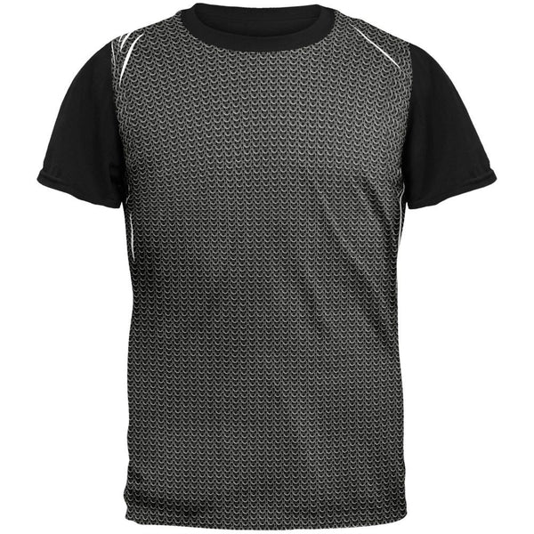Halloween Chainmail Costume Adult Black Back T-Shirt
