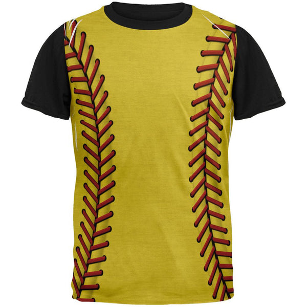 Softball Costume Adult Black Back T-Shirt