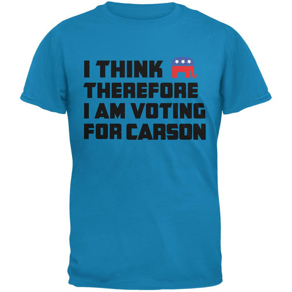 Election 2016 I Think Therefore Carson Sapphire Blue Adult T-Shirt
