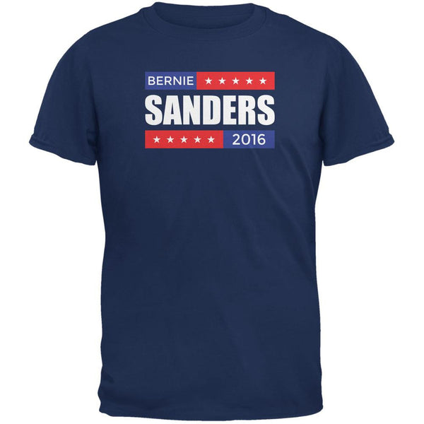 Election 2016 Bernie Sanders Stacked Metro Blue Adult T-Shirt