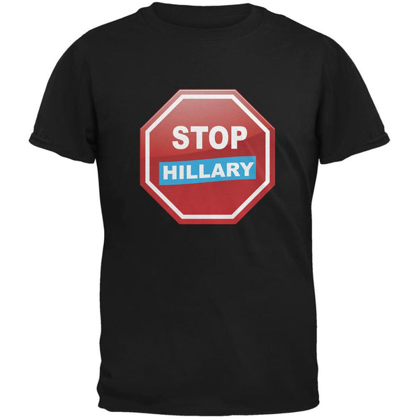 Election 2016 Stop Hillary Black Adult T-Shirt
