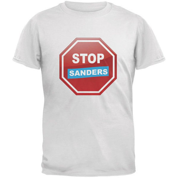 Election 2016 Stop Sanders White Adult T-Shirt