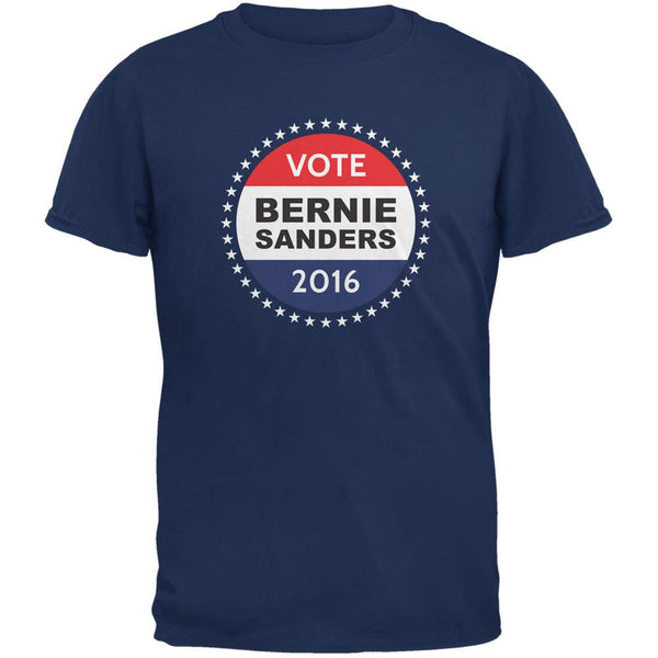 Election 2016 Bernie Sanders Badge Metro Blue Adult T-Shirt