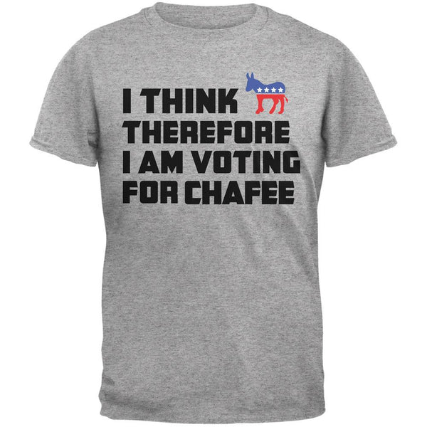 Election 2016 I Think Therefore Chafee Light Heather Grey Adult T-Shirt