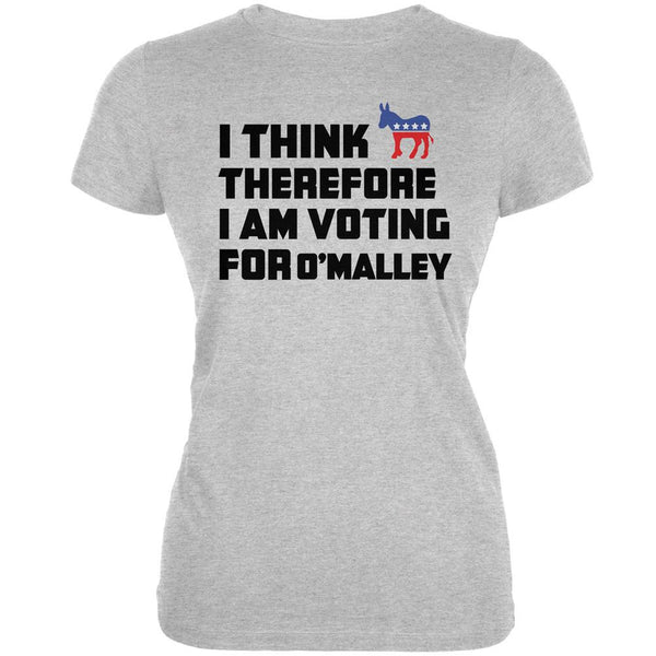 Election 2016 I Think Therefore O'Malley Heather Juniors Soft T-Shirt
