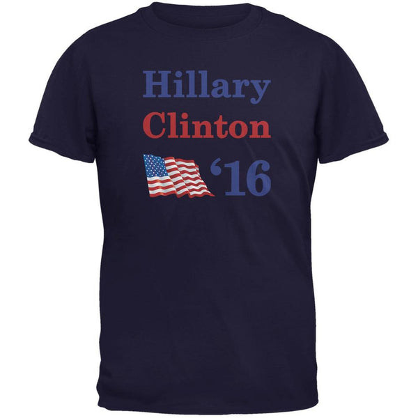 Election 2016 16 Flag Hillary Clinton Navy Adult T-Shirt
