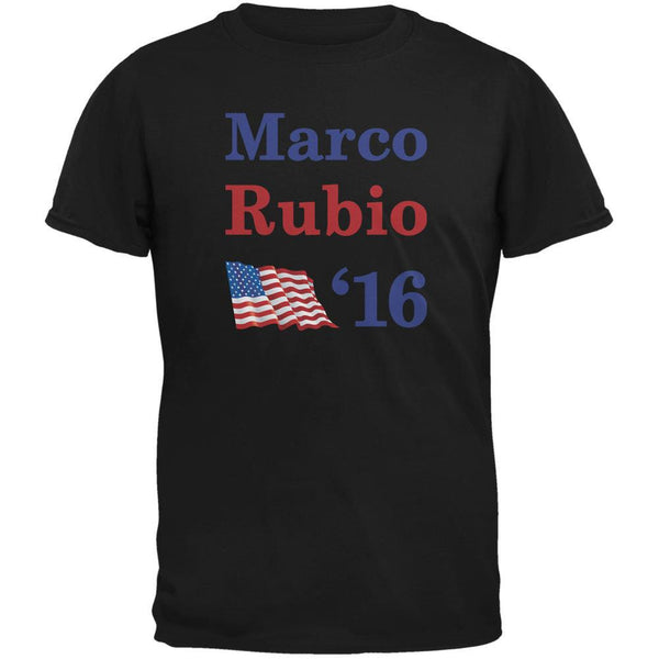 Election 2016 16 Flag Marco Rubio Black Adult T-Shirt