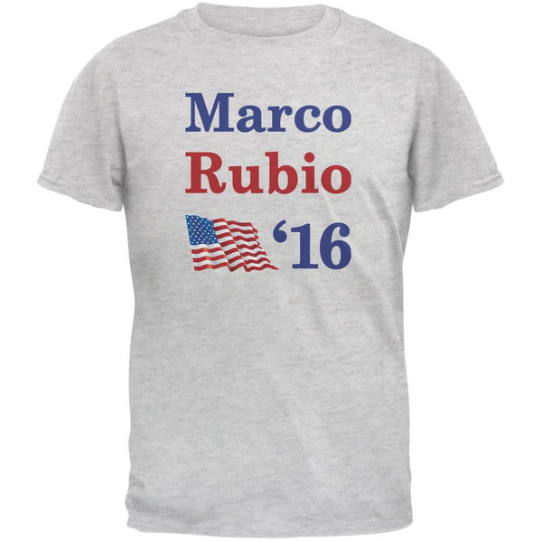 Election 2016 16 Flag Marco Rubio Light Heather Grey Adult T-Shirt