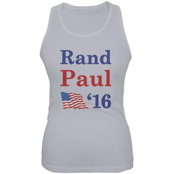 Election 2016 16 Flag Rand Paul Heather Grey Juniors Soft Tank Top