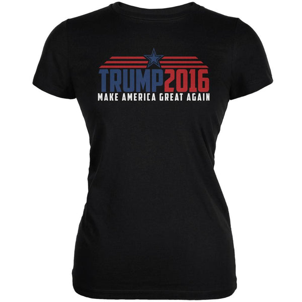 Election 2016 Trump 2016 Make America Great Black Juniors Soft T-Shirt