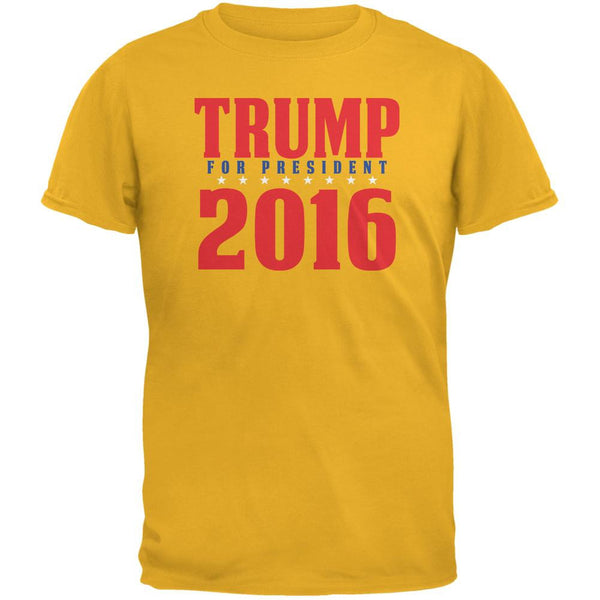 Election 2016 Trump For President 2016 Stacked Gold Adult T-Shirt