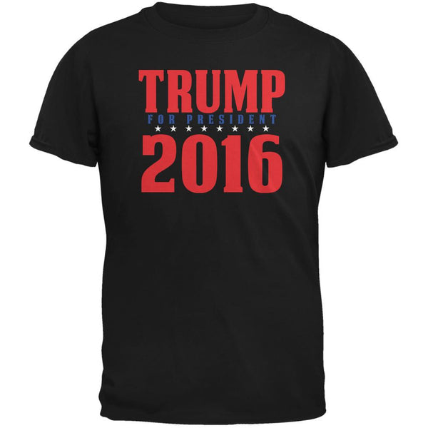 Election 2016 Trump For President 2016 Stacked Black Adult T-Shirt