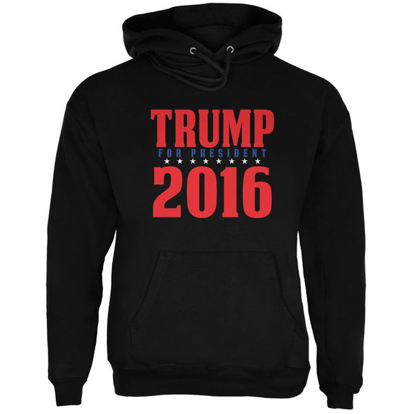 Election 2016 Trump For President 2016 Stacked Black Adult Hoodie